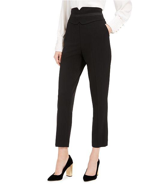 Calvin Klein High-Waist Tuxedo Pants