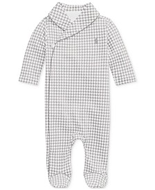 Baby Boys Printed Interlock Shawl One Piece Coverall