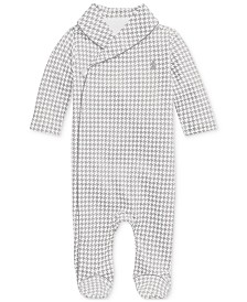 Polo Ralph Lauren Baby Boys Printed Interlock Shawl One Piece Coverall