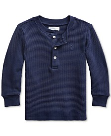 Polo Ralph Lauren Baby Boys Waffle Knit Henley Shirt