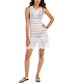 Juniors'  Crochet Racerback Dress Cover-Up, Created for Macy's