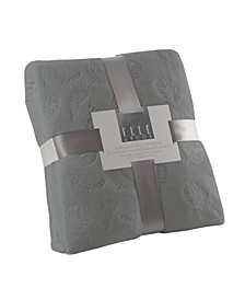 Leopard Palm 3D Embossed Plush Blankets