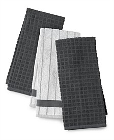 Charcoal-Infused Kitchen Towels, Set of 3