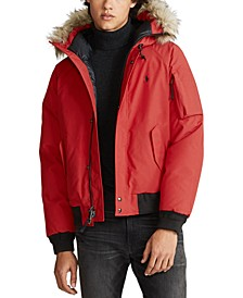 Men's Faux-Fur-Trim Down Jacket