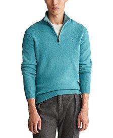 Men's Wool-Cashmere Quarter-Zip Sweater