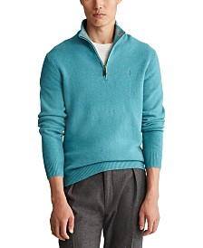 Polo Ralph Lauren Men's Wool-Cashmere Quarter-Zip Sweater