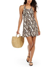Juniors' Leopard-Print Cover-Up Dress, Created for Macy's