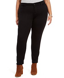 Plus Size Embellished-Pocket Skinny Jeans, Created for Macy's