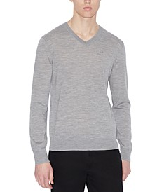 Men's V-Neck Wool Sweater