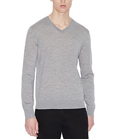 A|X Armani Exchange Men's V-Neck Wool Sweater