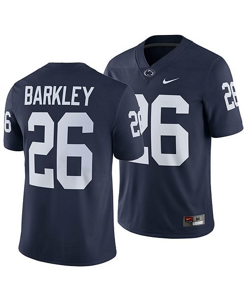 the best attitude ef93d 2930a Men's Saquon Barkley Penn State Nittany Lions Player Game Jersey