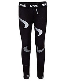 Little Girls Swoosh-Print Leggings