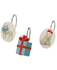 Holiday Dogs Shower Hooks