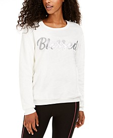 Juniors' Blessed Plush Sweatshirt