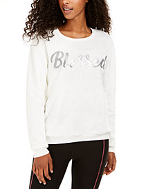 Love Tribe Juniors' Blessed Plush Sweatshirt