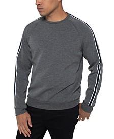 Men's Varsity-Stripe Sweatshirt