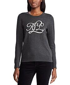 Intarsia-Knit-Logo Sweater