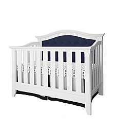 Belle Isle Magnolia 4-In-1 Convertible Upholstered Crib