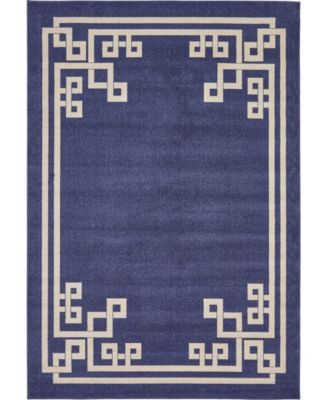 Anzu Anz3 Navy Blue 10' x 13' Area Rug
