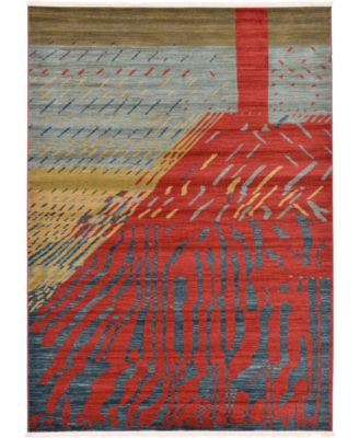 Ojas Oja1 Red 6' x 9' Area Rug