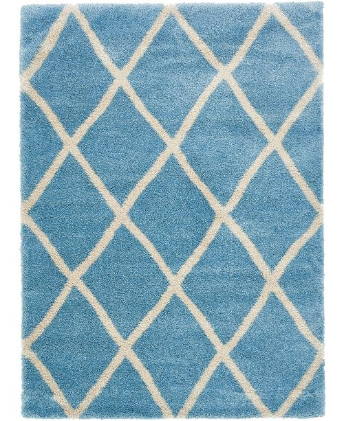 Bridgeport Home Latisse Shag Lts1 Light Blue Area Rug Collection
