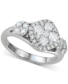 Diamond Cluster Ring (1-1/4 ct. t.w.) in 14k White Gold