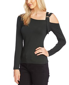 Vince Camuto Cold-Shoulder Asymmetrical Top