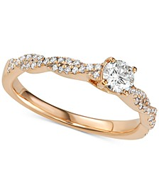 Diamond Twist Engagement Ring (1/2 ct. t.w.)