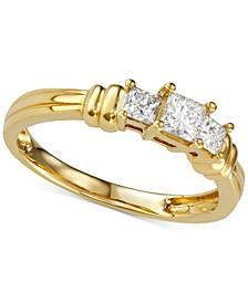 Diamond Princess Trio Diamond Engagement Ring (1/2 ct. t.w.) in 14k Gold