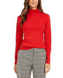Pima Turtleneck Top, Created for Macy's