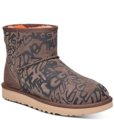 Women's Classic Street Graffiti Mini Boots