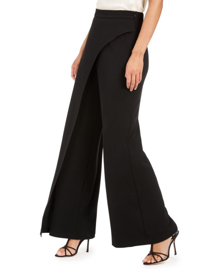 Adrianna Papell Crepe Draped-Front Wide-Leg Pants & Reviews - Pants & Leggings - Women - Macy's