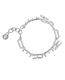 Silver EMPOWERED Affirmation Link Bracelet