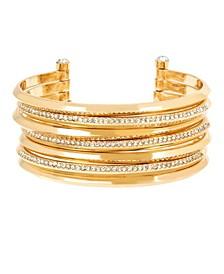 Pave Multi Row Cuff Bracelet