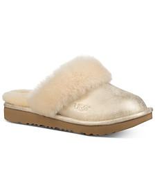 UGG® Little & Big Girls Cozy Metallic Slippers