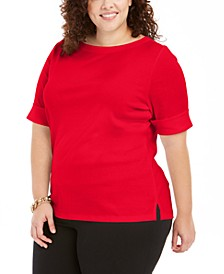 Plus Size Cotton T-Shirt, Created for Macy's