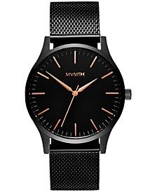 Men's The 40 Black Stainless Steel Mesh Bracelet Watch 40mm