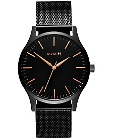 MVMT Men's The 40 Black Stainless Steel Mesh Bracelet Watch 40mm