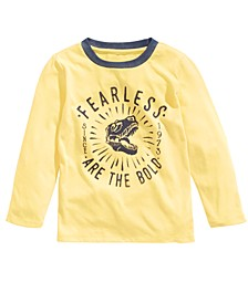 Toddler Boys Fearless T-Rex Print Long Sleeve Shirt, Created For Macy's