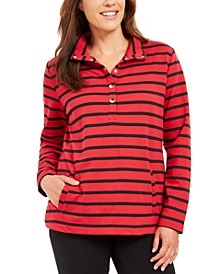 Sport Striped Mock-Neck Top, Created For Macy's