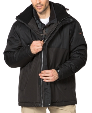 Hawke & Co. Outfitter Men's Big & Tall Colorblocked Parka In Black