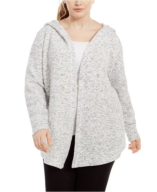 Ideology Plus Size Warm-Up Hoodie, Created For Macy's