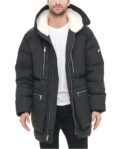 Grey Hooded Parka