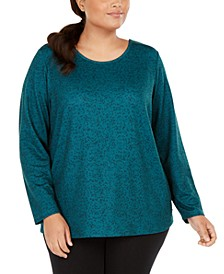 Plus Size Criss-Cross Workout Top, Created For Macy's
