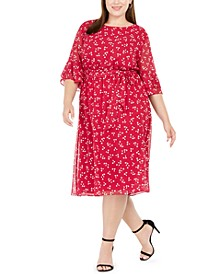 Plus Size Printed Midi Dress