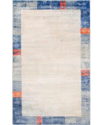 Haven Hav4 Blue 5' x 8' Area Rug