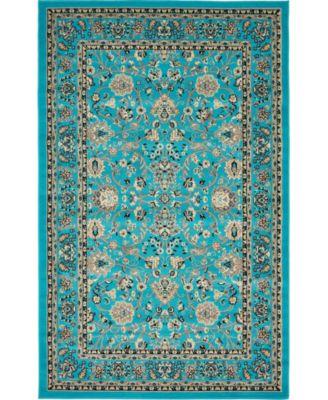 Arnav Arn1 Turquoise 5' x 8' Area Rug