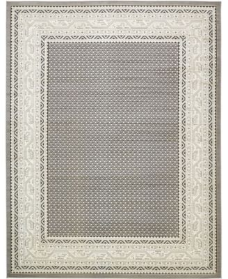 Axbridge Axb1 Gray 5' x 5' Round Area Rug