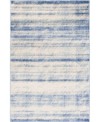 Haven Hav3 Blue 4' x 6' Area Rug