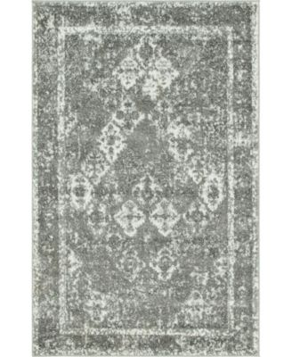 Mishti Mis2 Gray 8' x 8' Round Area Rug